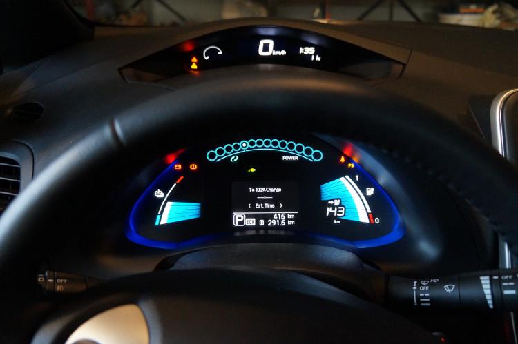 Cuadro de instrumentos digital del Nissan Leaf