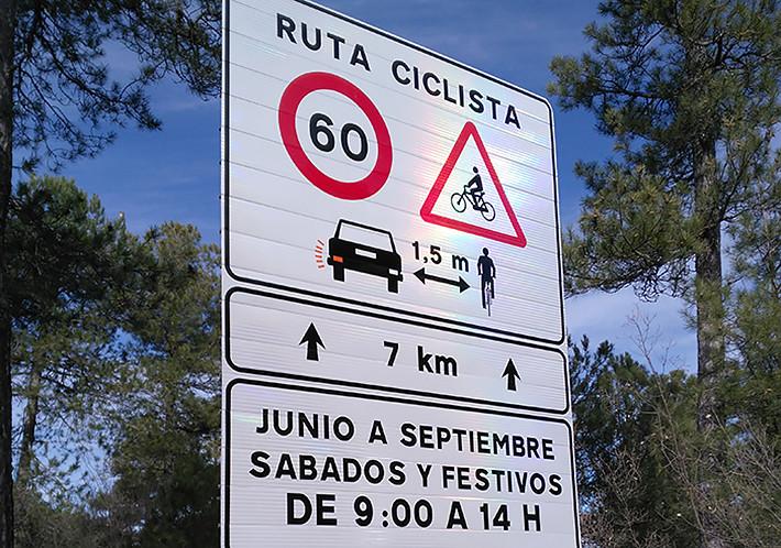 Señalización rutas seguras para ciclistas