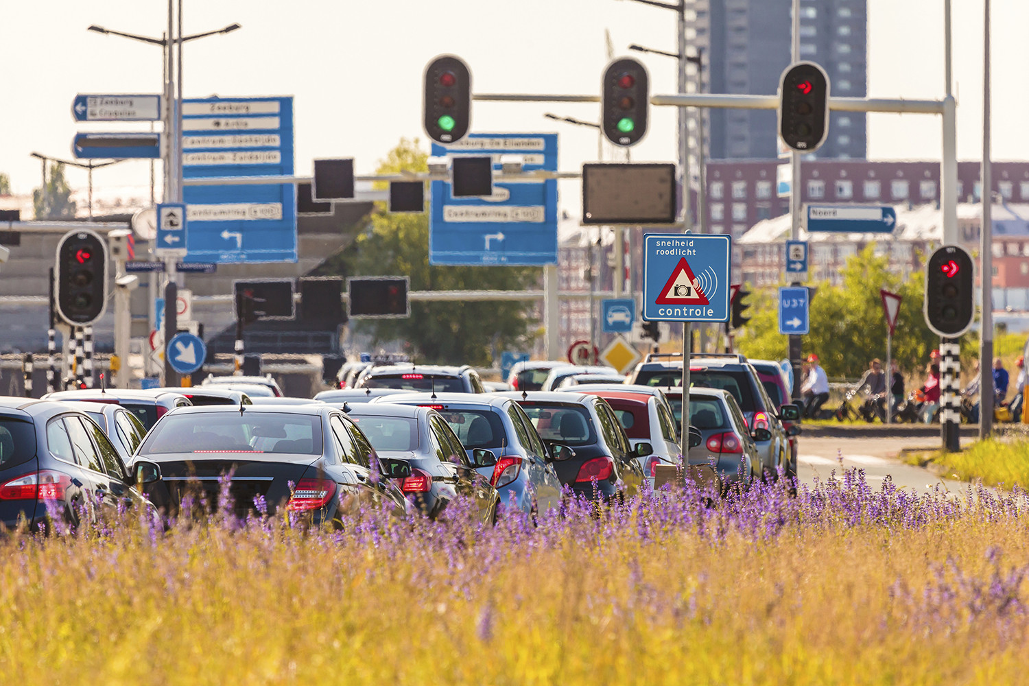 Rush hour in Amsterdam, The Netherlands
