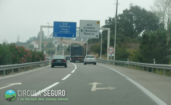 Destroços nas auto-estradas