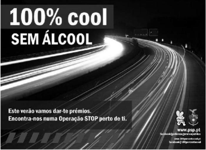 100% Cool - álcool na condução