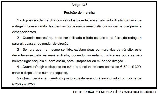Código da estrada - CS
