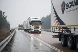 Truck platooning challenge - The take off event. Platooning with long vehicles. Södertälje, Sweden Photo: Peggy Bergman 2016