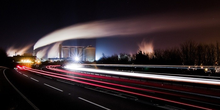 Have been planning this shot for quite a while waiting for a suitably clear night, the roadworks on the Eastbound carriageway to be cleared and the steam and smoke to be drifting South over the town. Well got two out of three but the roadworks were transfered to the Westboud carriageway forcing me to crop tighter than I wanted to, so just a trial shot tonight. Hopefully in the next few weeks they'll move a couple of hundred metres further down the road and the sugar factory still processing the last of the beat.