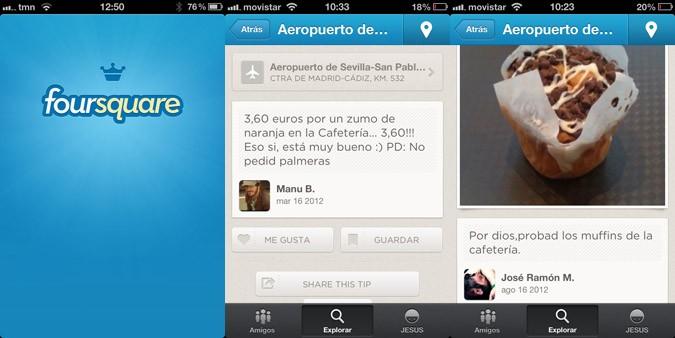 Foursquare en aeropuerto