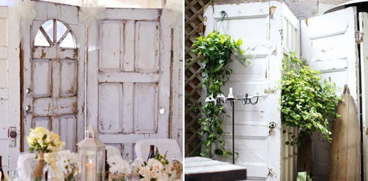 Muebles reciclados con puertas contraventanas y ventanas for Decoracion con puertas antiguas