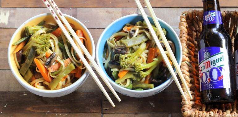 wok asiatico aprovechamiento de verduras