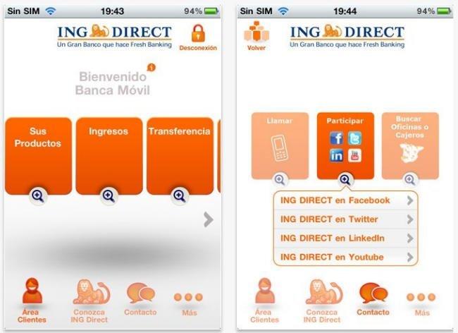 ING Direct para el iPhone