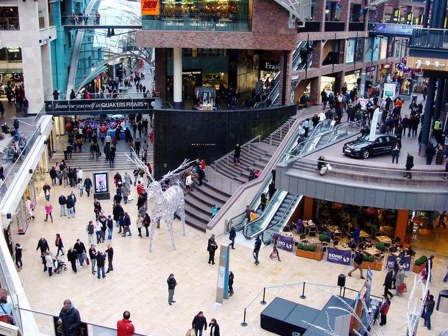 De compras en un centro comercial