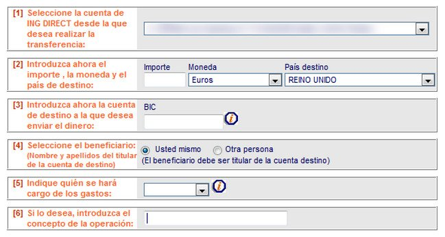 Transferencia ING DIRECT