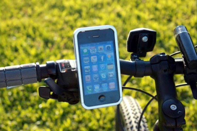 Bicicleta con smartphone