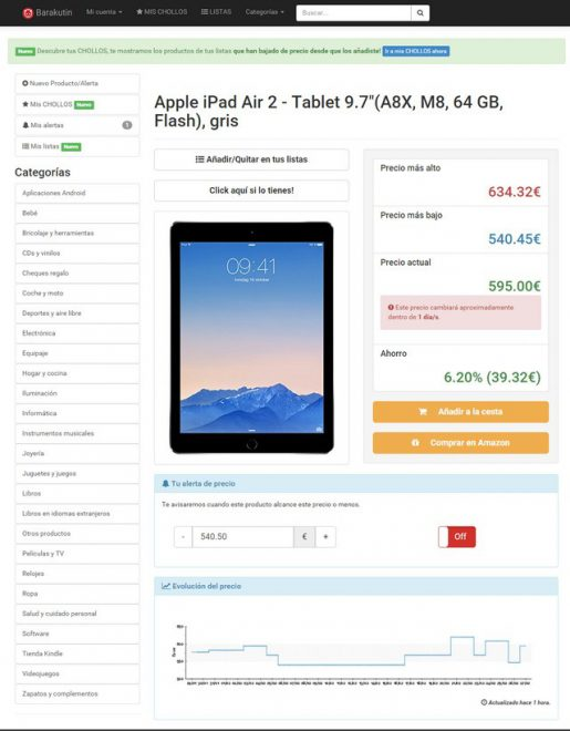 Comprar un iPad en Amazon España con Barakutin