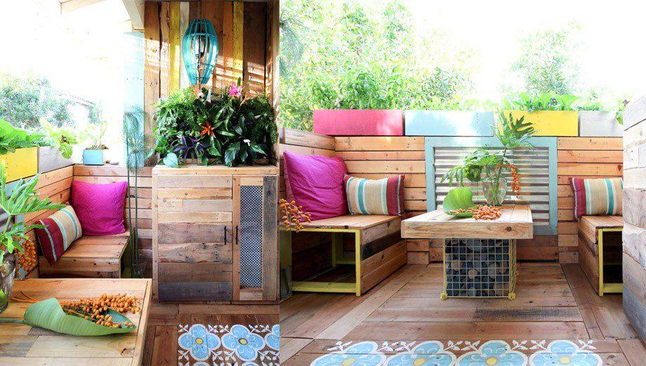 11 ideas para reciclar y darle una nueva vida a tu terraza - Como disenar una terraza jardin ...