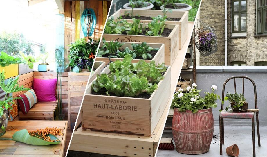 11 ideas para reciclar y darle una nueva vida a tu terraza for Ideas para terrazas baratas