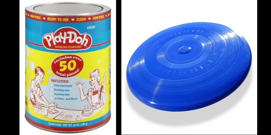 Set de Play Doh, fuente Amazon / Frisbee, fuente Wham-O