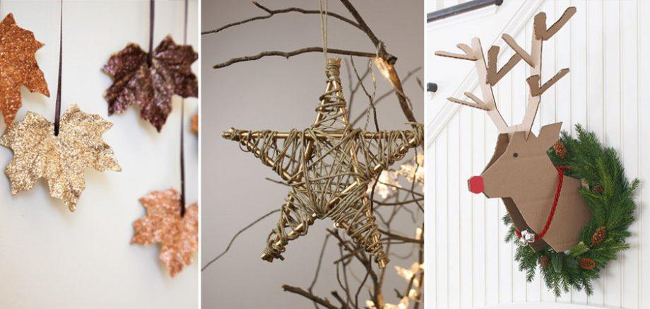17 ideas diy para decorar tu casa en navidad por muy poco - Ideas adornos navidenos ...