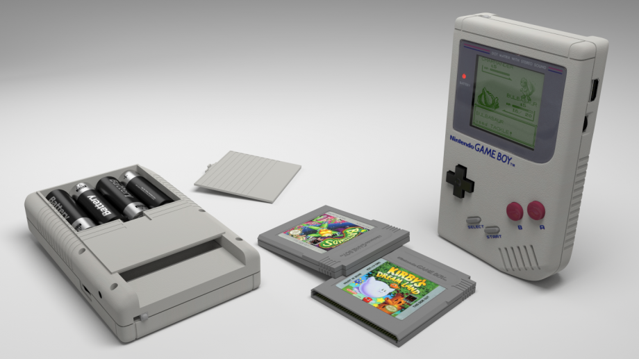 Game Boy, fuente Blender Nation