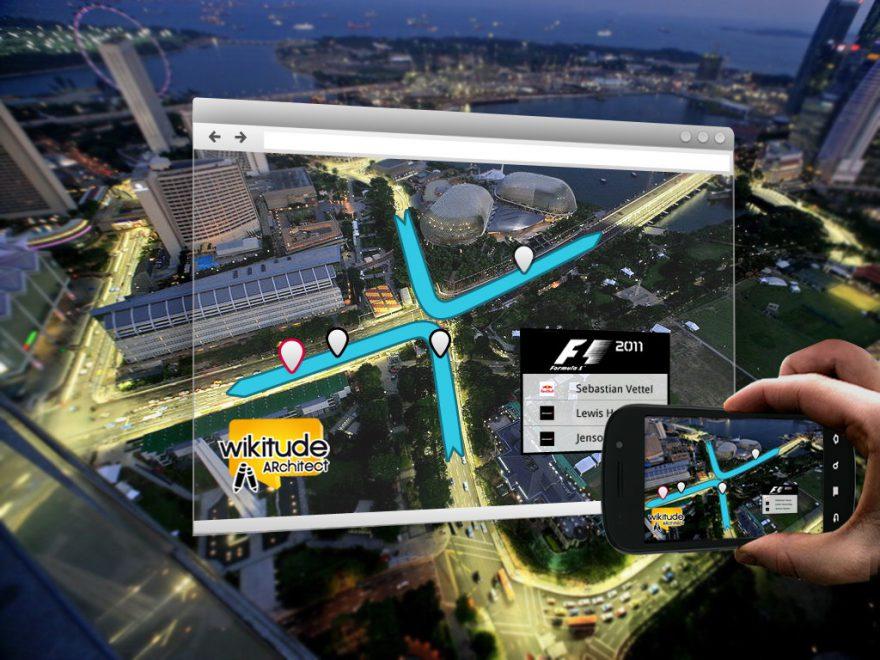 realidad aumentada sobre la ciudad