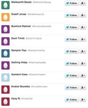 Twitter, seguidores falsos