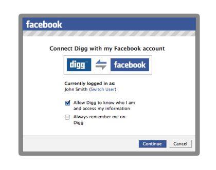 Facebook digg