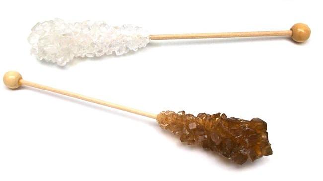 palitos de azúcar cristalizado