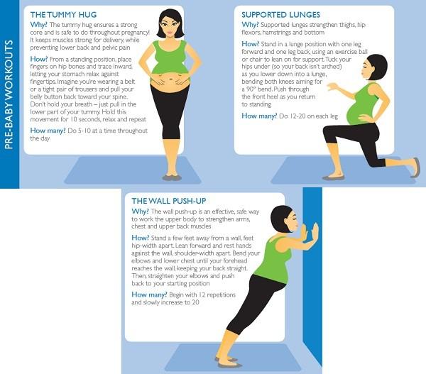 Ejercicios durante el embarazo: los mejores para
