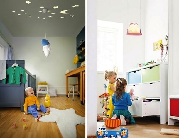 Las l mparas colgantes m s divertidas para llenar de luz - Lamparas dormitorio infantil ...