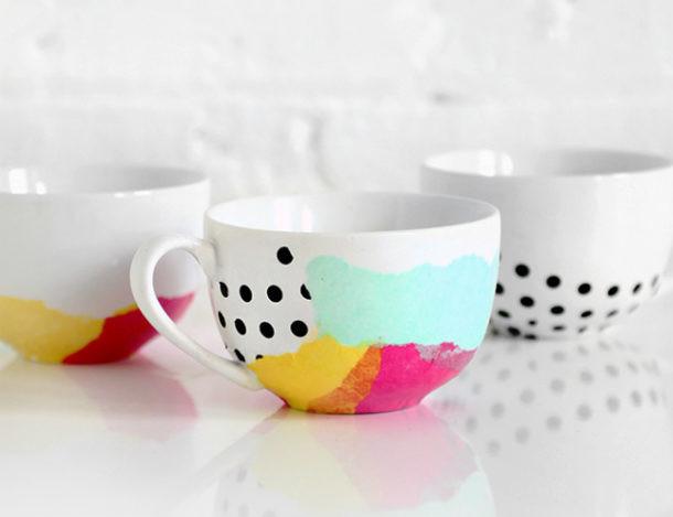 Ideas para decorar y personalizar tus propias tazas de for Decoracion con tazas de cafe