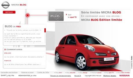 Nissan Micra Blog Edition