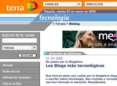 blogs más tecnológicos en Terra