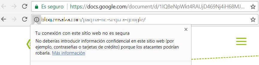 Páginas web no seguras