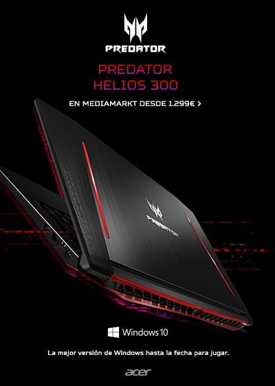 Predator Helios 300 en MediaMarkt desde 1299€