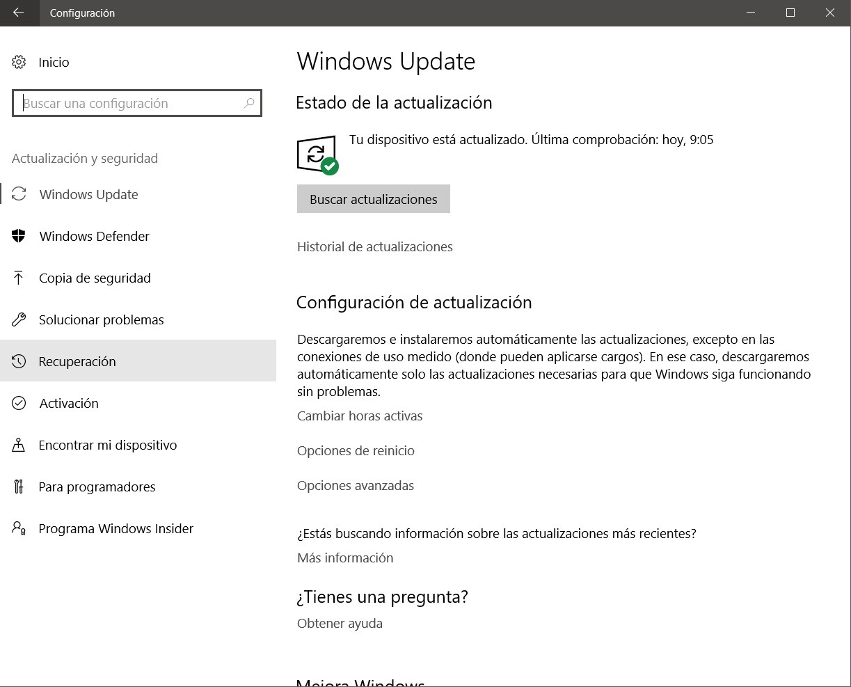 formatear PC restaurar ordenador windows update actualización