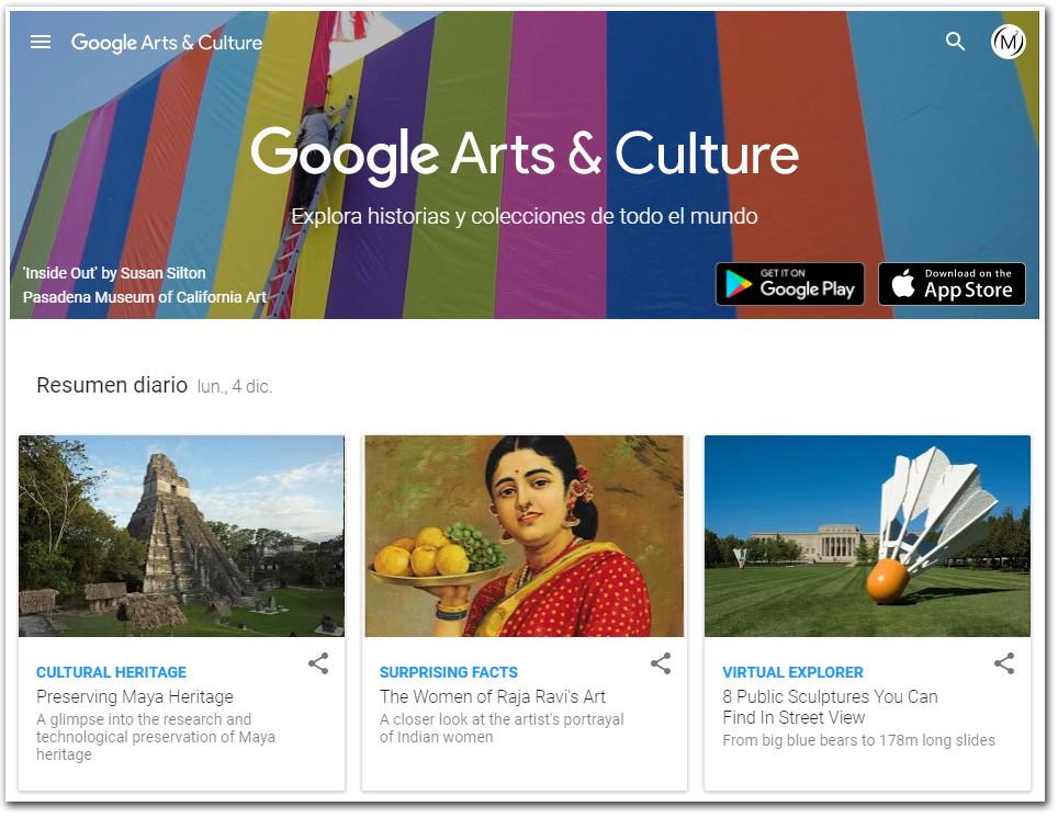 Google Arts & Culture inicio