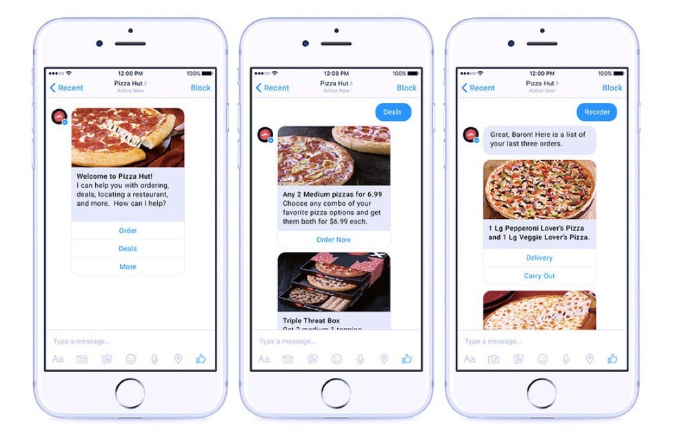 pizza hut chatbot