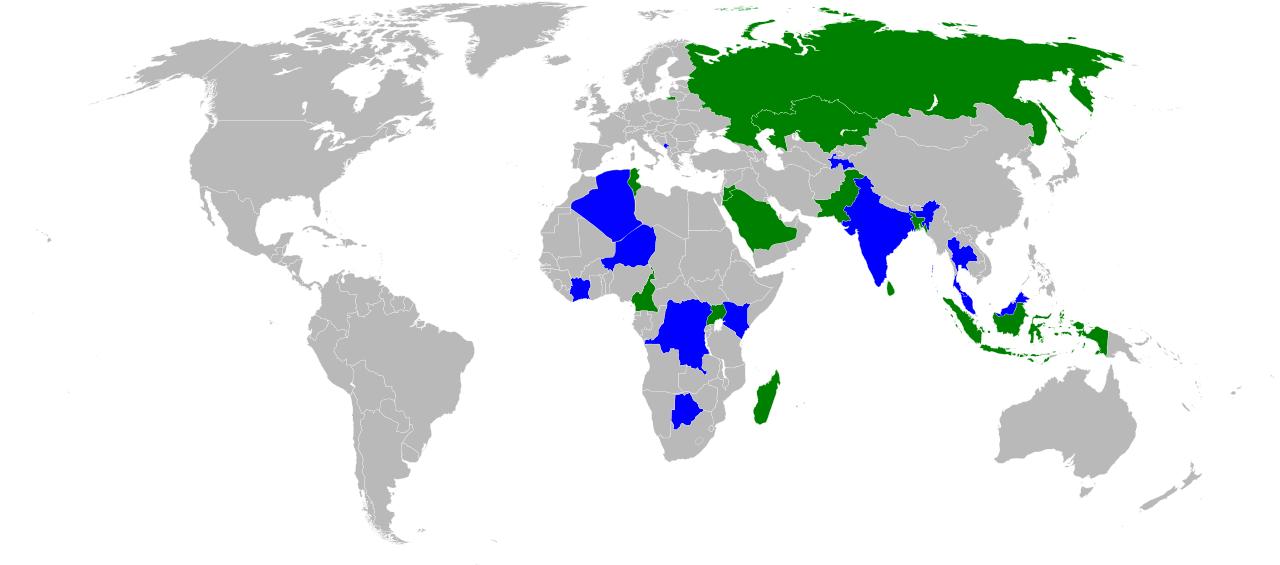 Wikipedia Zero mapa paises tarifas