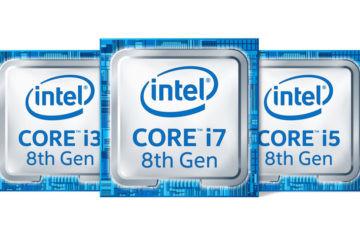 Comparativa de procesadores Intel de 8ª generación