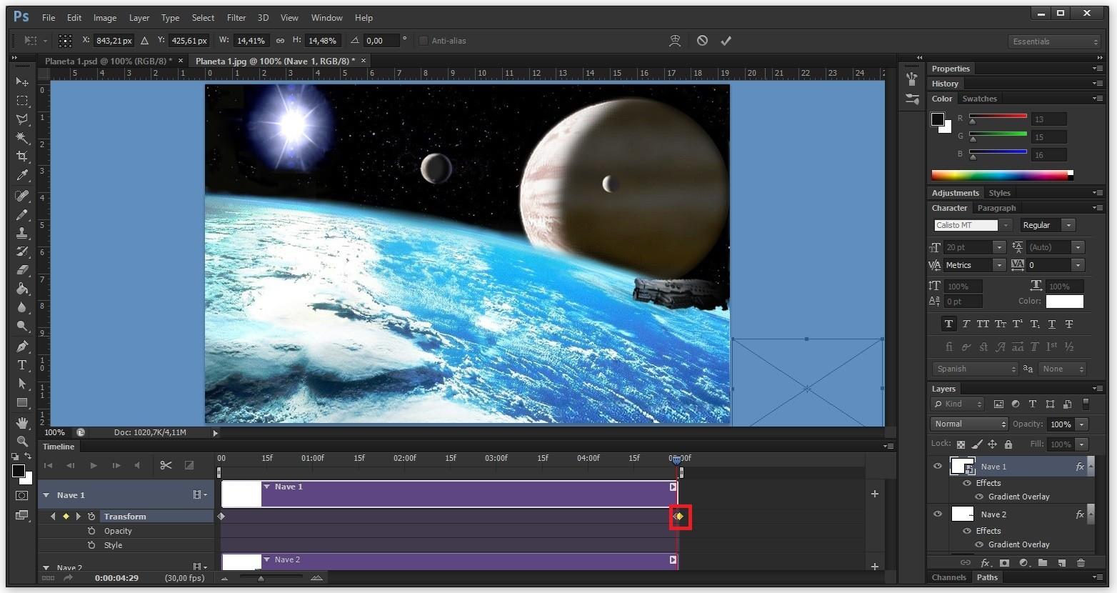 como hacer un gif Planeta 8