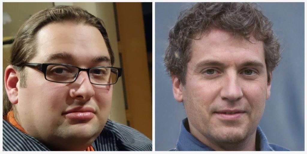 rostros falsos generados por IA