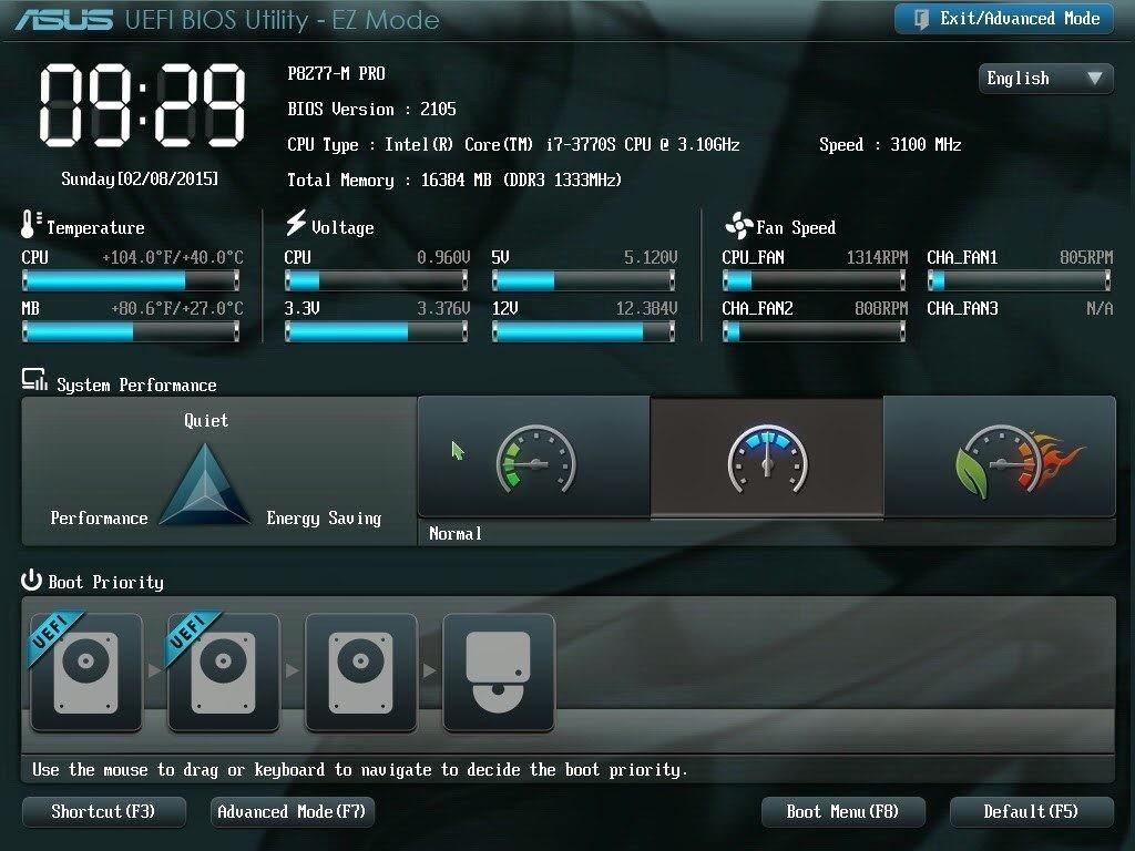 UEFI screenshot