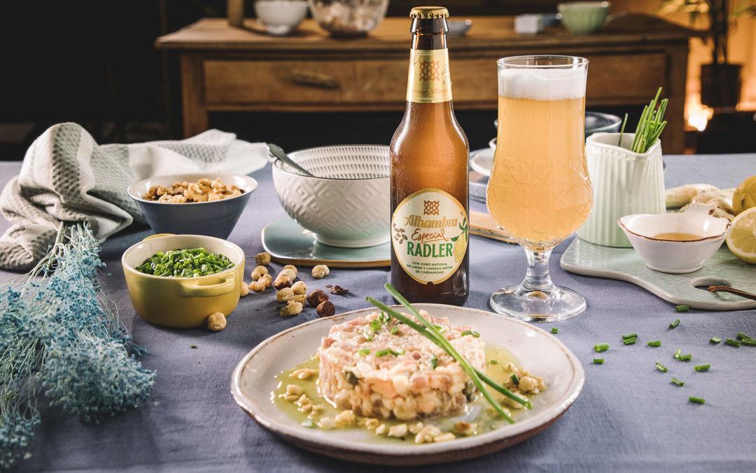 Receta de tartar de atún y gambas con salsa de frutos secos, el entrante para triunfar en estas fiestas