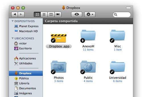 Finder con Dropbox