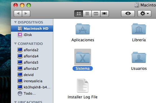 Compartir en Mac