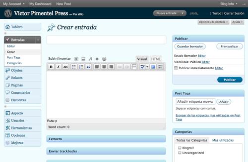 Editando una entrada en WordPress.com