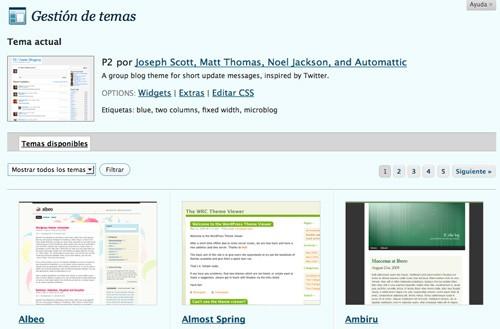 Temas para WordPress.com