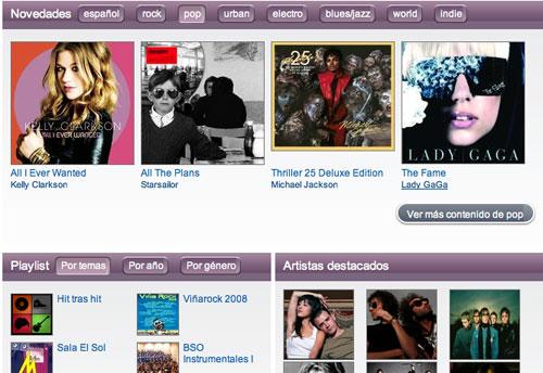 Yes.fm, catálogo musical