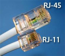 Conectores RJ-11 y 8P8C