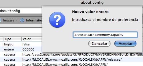 Cache de Firefox