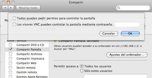 VNC en Mac OS X