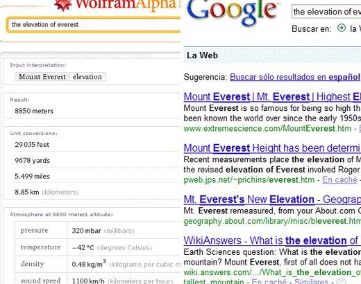 Wolfram|Alpha vs Google 2